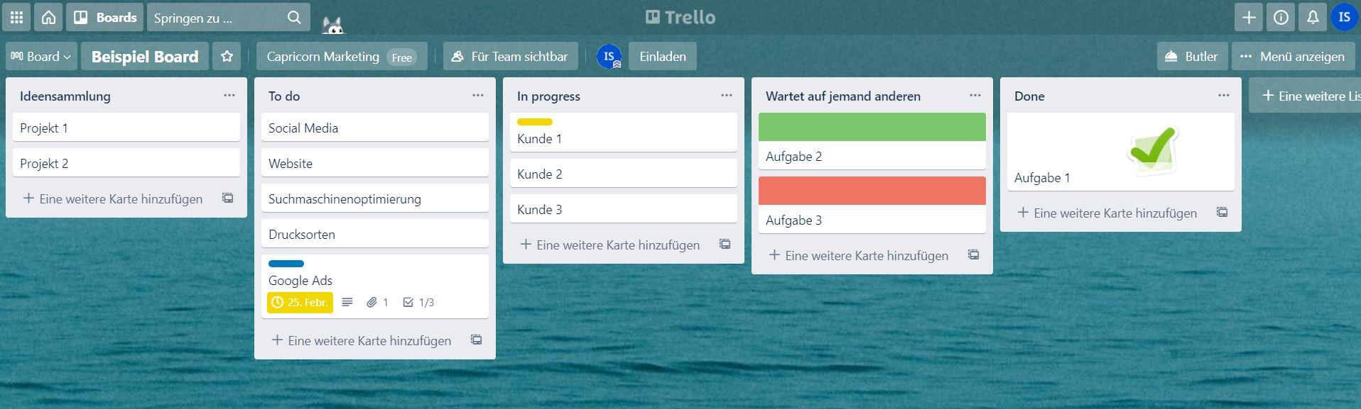 Tools für EPU: Trello